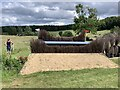 SK1426 : Cross-country obstacle at Eland Lodge Horse Trials by Jonathan Hutchins