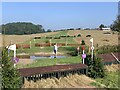 SK1426 : Cross-country obstacles at Eland Lodge Horse Trials by Jonathan Hutchins