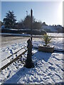 TF1505 : Restored parish pump, Glinton, in the snow by Paul Bryan