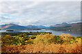 NS4090 : The vista from the summit of Inchcailloch island, Loch Lomond by IMcC