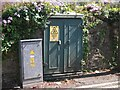 SH5872 : Old electrical cabinet on Upper Garth Road, Bangor by Meirion