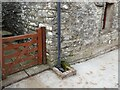 NY7307 : Downspout and drain by Adrian Taylor