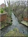SE3122 : Balne Beck, downstream from Wrenthorpe Lane bridge by Christine Johnstone