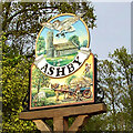 TM4899 : Ashby Dell St Mary's village sign by Adrian S Pye