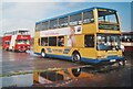 TQ0757 : Wisley Airfield - Yellow Bus by Colin Smith