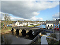 H4572 : A cloudy sky over the River Strule, Omagh by Kenneth  Allen