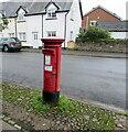 SO3700 : Queen Elizabeth II priority pillarbox, Maryport Street, Usk by Jaggery