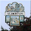 TM3441 : Alderton village sign by Adrian S Pye