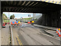 TQ2181 : Road works for HS2 services by David Hawgood