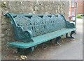 SZ5983 : Victorian pier bench on suburban street corner by Paul Coueslant