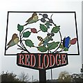 TL6970 : Red Lodge village sign by Adrian S Pye