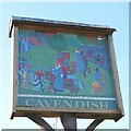 TL8046 : Cavendish village sign by Adrian S Pye