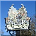 TL7859 : Chevington village sign by Adrian S Pye