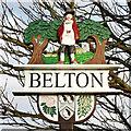 TG4803 : Belton village sign by Adrian S Pye