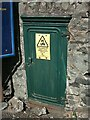 SH5771 : Old electrical cabinet just off the High Street, Bangor by Meirion