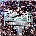 TM0259 : Onehouse village sign by Adrian S Pye