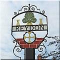 TM5077 : Reydon village sign by Adrian S Pye