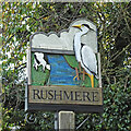TM4986 : Rushmere St Michael village sign by Adrian S Pye