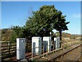 NY3751 : Electrical Cabinets, Low Mill Level Crossing by Adrian Taylor
