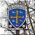 TL9768 : Hunston village sign by Adrian S Pye