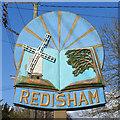 TM4084 : Redisham village sign by Adrian S Pye
