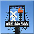 TM4759 : Thorpeness village sign by Adrian S Pye