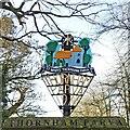 TM1072 : Thornham Parva village sign by Adrian S Pye