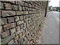 SO8933 : Brick wall on Mythe Hill by Philip Halling
