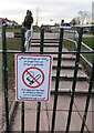 ST3091 : It is against the law to smoke in these school grounds, Malpas, Newport by Jaggery