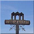 TM0877 : Wortham village sign by Adrian S Pye