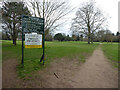 SO8353 : Worcester Golf and Country Club from the public footpath by Chris Allen