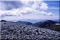 NN9773 : Rocky summit area of Carn nan Gabhar by Trevor Littlewood