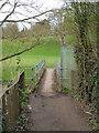 SO8253 : Public footpath crossing the Laughern Brook by Chris Allen