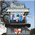TF7343 : Thornham village sign (east face) by Adrian S Pye
