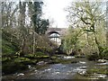 NY7707 : The Stenkrith Bridges by Michael Earnshaw