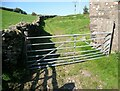 SD2781 : Metal gate, Stony Crag by Adrian Taylor