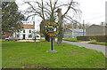 TF9113 : Crane's Corner village sign by Adrian S Pye