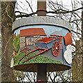 TG0511 : Mattishall village sign (4) by Adrian S Pye