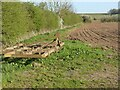 SK6641 : Cultivator and cultivated field by Alan Murray-Rust