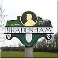 TF9208 : Bradenham village sign by Adrian S Pye