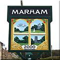 TF7008 : Marham village sign (2) by Adrian S Pye