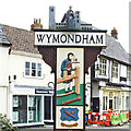 TG1001 : Wymondham town sign by Adrian S Pye