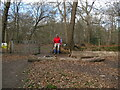 SU9485 : Path into Dorney Wood from Park Lane by David Hawgood