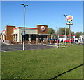 ST3486 : North side of Burger King, Seven Stiles Avenue, Newport Retail Park by Jaggery