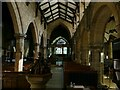 SE1942 : St Oswald's church, Guiseley - south nave by Stephen Craven