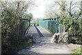 ST3085 : Footbridge over River Ebbw by M J Roscoe