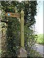 TG2733 : Sign Public Footpath by David Pashley