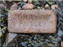 NS2975 : Old brick at Garvel Point by Thomas Nugent