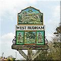 TF8127 : West Rudham village sign by Adrian S Pye