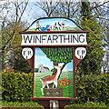 TM1085 : Winfarthing village sign by Adrian S Pye